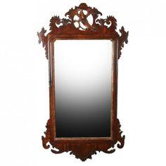 Georgian Mahogany Chippendale Mirror