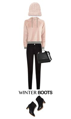"""""""Winter Boots"""" by brunettediary ❤ liked on Polyvore featuring Rupert Sanderson, Topshop, Givenchy, Free People and winterboots"""