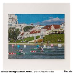 Belarus Беларусь Minsk Минск City Architecture Jigsaw Puzzle