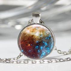 Nebulae Space Pendant Space Pendant Necklace Planet