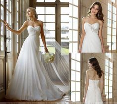 STOCK Size 4 6 8 10 12 14 White/Ivory Chiffon Beach Elegant Wedding Dresses Gown #Handmade #WeddingEveningDress