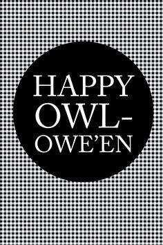 "Happy ""Owl-oween"" FREE Printables!! -- Tatertots and Jello #DIY #Halloween"