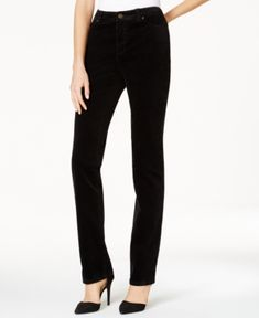 Charter Club Lexington Corduroy Straight-Leg Pants, Only at Macy's - Black 18S