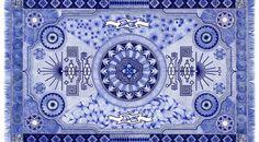 Рисованные синие ковры http://www.prohandmade.ru/other/risovannye-sinie-kovry/  #ковер #рисование #творчество #креатив