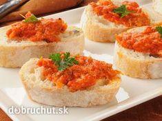 Papriková maďarská nátierka Modern Food, Russian Recipes, Yams, Bruschetta, Mashed Potatoes, Pesto, Food And Drink, Appetizers, Cooking Recipes