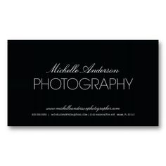 20 best photography business cards ideas images on pinterest sleek photographer photography business card wajeb Image collections