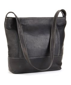 Another great find on #zulily! Black Everyday Leather Hobo #zulilyfinds 49.99 on sale