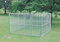 Amazon.com: ALEKO Dog Kennel 10' x 10' x 6' DIY Box Kennel Chain Link Dog Pen System: Pet Supplies