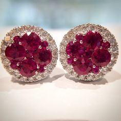 YES YES YES. How amazing are these ruby and diamond earrings?!