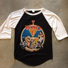 """1979 The Who raglan, measures 19"""" pit to pit and 27"""" collar to hem, $150+$8 domestic shipping. Call 415-796-2398 to purchase or PayPal afterlifeboutique@gmail and reference item in post."""