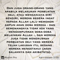 Quote from the Holy Quran, Aal-i-Imraan (3:135) #muslimpro http://www.muslimpro.com/dl