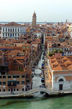 Venice Canal Print by Carla Parris