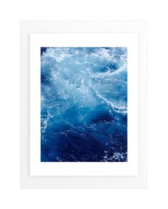 Waving Blue Wall Art Prints by CaroleeXpressions | Minted