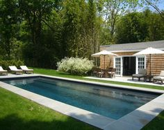 Home Design and Interior Design Gallery of Modern Backyard With Swimming Pool Shelter Island Fishermans Cottage Backyard Pool Landscaping, Backyard Pool Designs, Swimming Pools Backyard, Swimming Pool Designs, Landscaping Design, Lap Pools, Big Backyard, Backyard Ideas, Indoor Pools