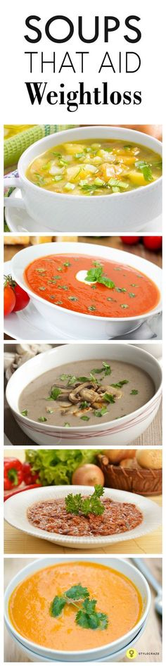There are several varieties of soups to choose from, ranging from rich creamy ones to slimming soups. Here are 10 easy and healthy recipes of diet soups for weight loss for you to try for dinner tonight. detox soup for weight loss Weight Loss Soup, Weight Loss Meals, Healthy Weight Loss, Losing Weight, Healthy Diet Recipes, Healthy Eating, Healthy Soups, Healthy Food, Paleo Diet