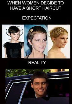 Funny Women Haircut Expectations AHAHAHAHAAAA so funny!