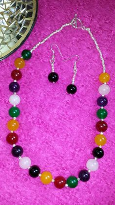 Hey, I found this really awesome Etsy listing at https://www.etsy.com/listing/182323598/multi-coloured-agate-necklace-earring