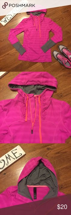 Super Cute Sporty Hooded Top! Like new! Mondetta designer. Super cute front and back. Size small 💕 Mondetta Tops Sweatshirts & Hoodies