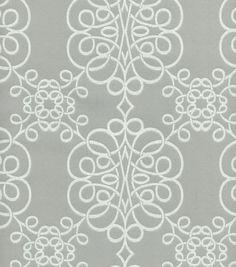 Upholstery Fabric- HGTV Home Nostalgic Verse Smoke
