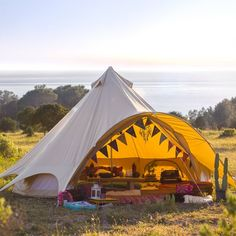 5m Sandstone Star Bell Tent With Zipped In Ground Sheet