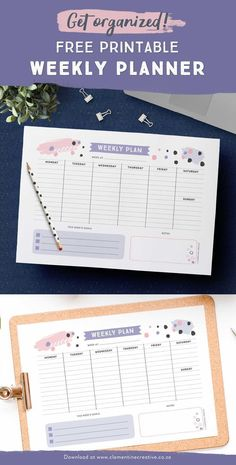 Get organized with this free printable weekly planner! Plan your week from Monda… Get organized with this free printable weekly planner! Plan your week from Monday to Sunday. There's even space to write down your top 3 goals for the… Continue Reading →