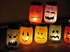Great DIY Halloween Decor! Simple steps to make them and unlike pumpkins they can be used year after year! #fall2013 #falldecor #diydecor #mobilehomes #homesforsale #homesforrent