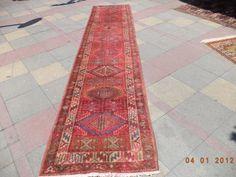 VINTAGE Turkish Carpet Runner Rug Serapi Caucasian by LittleCatRug #LGLimitlessDesign & #Contest