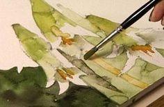 Shirley Trevena watercolor techniques- taking risks