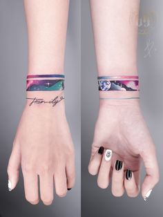 Dreamy Space Tattoos to Relive your Space Expedition Arm Band Tattoo For Women, Wrist Band Tattoo, Cuff Tattoo, Tattoo Bracelet, Tattoos For Women Small, Piercing Tattoo, Small Tattoos, Armband Tattoo, Tattoo Women