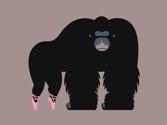 Utrecht City Theatre monkey illustration - by Aad Goudappel
