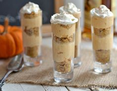 Not sure I would serve these yummy Spiced Captain Morgan Pumpkin shooters in these type of shot glasses, but they do sound yummy. Maybe small little dessert bowls.