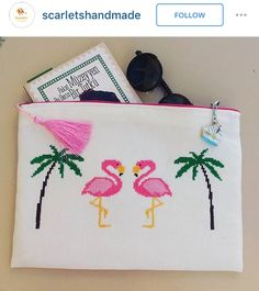 Flamingo cross stitch