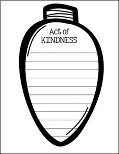 Celebrate KINDNESS for the months of December and January! What is included:**Many Styles of Light Bulbs**Light bulbs with writing lines and without lines**Multiple Bulletin Board different writing prompts**Copy on black and white or colored pap Art Therapy Activities, Writing Activities, Classroom Activities, Class Activities, Classroom Crafts, 2nd Grade Classroom, Future Classroom, Holiday Activities, Holiday Crafts