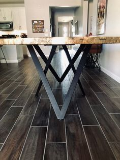 Modern Table Base, Pedestal, Dining Table Base, Metal Table Base Powder Coated H… – Marble Table Designs