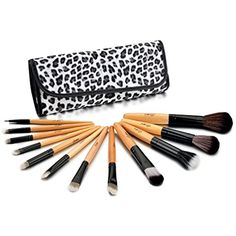 Glow 12 Make up Brushes Set in Leopard Print Case * Check out this great product. (This is an affiliate link) #MakeupBrushSetsKits