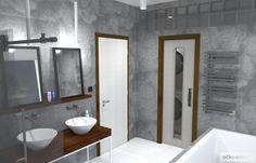 Vedlejší místnost skrývá pračku se sušičkou a spousty místa na ukládání Bathtub, Bathroom, Projects, Standing Bath, Washroom, Log Projects, Bathtubs, Blue Prints, Bath Tube
