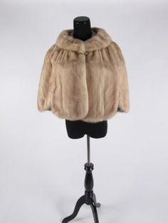 vintage genuine 50s chapagne cape fur wedding stole shawl wrap on Etsy, $248.42 AUD