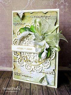 Скрапбукинг открытки с лилиями