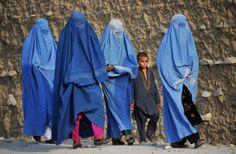 Afghan women walking in Jalalabad. (AFP/Noorullah Shirzada)