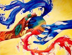 Earth,Wind,Fire,Water by *Victolia on deviantART