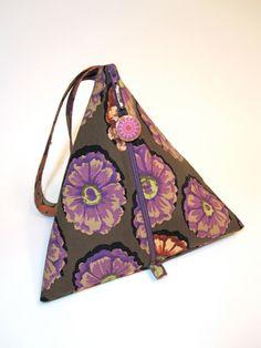 Pyramid Bag  Kaffe Fassett Antique Zinnias by elinorandmarianne, $25.00