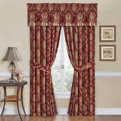 Waverly Rose Momento Floral Panels, Valance and Tiers