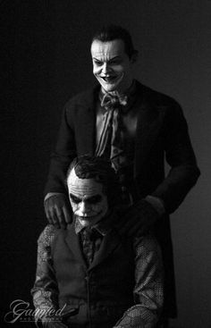 jack nicholson joker picture with heath ledger joker - Google Search