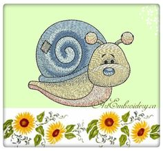 Snail - Machine Embroidery Designs Set for a Babies and Children of a series Old Toy made by Liuba Tabunidze.  Designs are delivered as a .zip file and consists of: - two files of designs for hoops 4x4 and 5x7 - Color Charts, - Pictures of designs and embroidered project, .txt info file AE_Snail_OldToy, Size:114.3x91.5 mm (4.50x3.60 ), Stitches:16870  AE_Snail_OldToy4x4, Size:99.2x80.9 mm (3.91x3.19 ), Stitches:13703  9 Colors, Available formats: DST, EXP, HUS, JEF, PEC, PES, XXX, VIP, VP3…