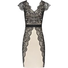 Reiss Ton Lace Lace Panel Dress ($370) ❤ liked on Polyvore