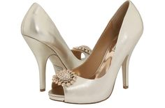 metallic shimmer wedding shoes badgley mischka