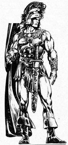 Fantasy Heroes, Fantasy Warrior, Fantasy Art, Marvel Comics, Marvel Comic Universe, Conan The Barbarian 1982, Werewolf Legend, Conan O Barbaro, Conan The Destroyer