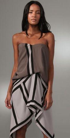 Geometric Colorblock Dress, BCBGMAXAZRIA