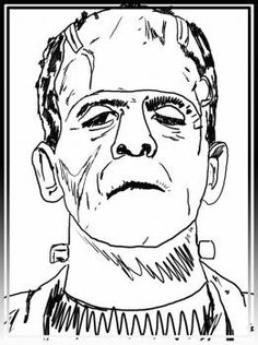 How to Draw Frankenstein, Step by Step, Frankenstein, Monsters . Arte Horror, Horror Art, Horror Room, Brainstorm, Reference Drawing, Drawing Guide, Drawing Lessons, Frankenstein Art, Horror Drawing