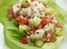 The Culinary Institute of America Food Enthusiasts :: Chicken Salad with Tomato and Cucumber
